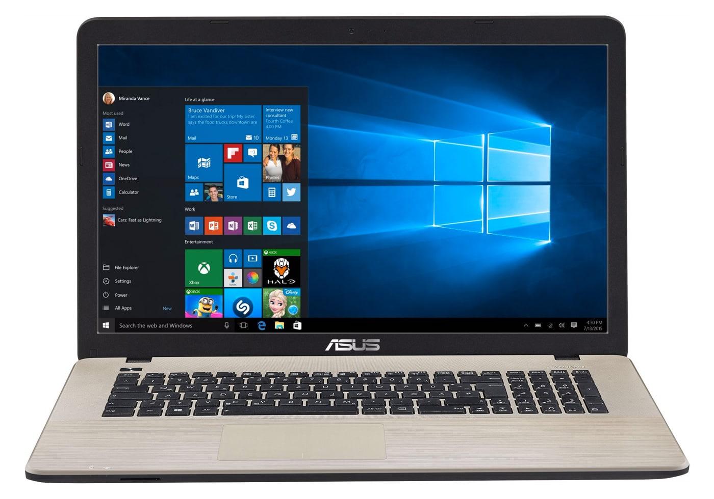 Asus X752LJ-TY351T à 617€, PC portable 17 pouces Core i5