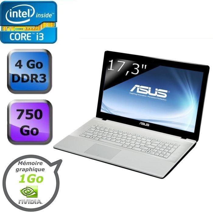 """Asus X75VC-TY138H vente flash 498€, 17.3"""" polyvalent avec Core i3 Ivy Bridge, 750 Go, Geforce 720M"""