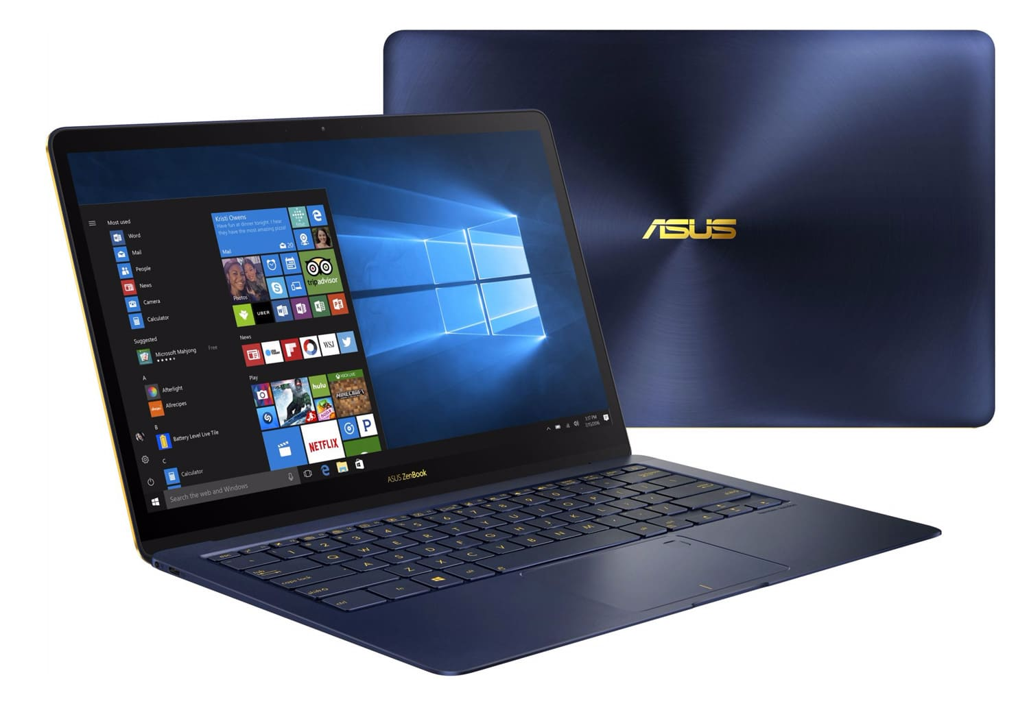 Asus ZenBook 3 Deluxe, Ultrabook 14 pouces SSD 512 Kaby Lake 1.1 Kg à 1710€