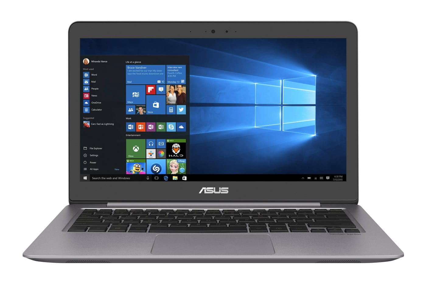 Asus ZenBook UX310UA-GL436T à 699€, Ultrabook 13 pouces Full HD Kaby Lake i5