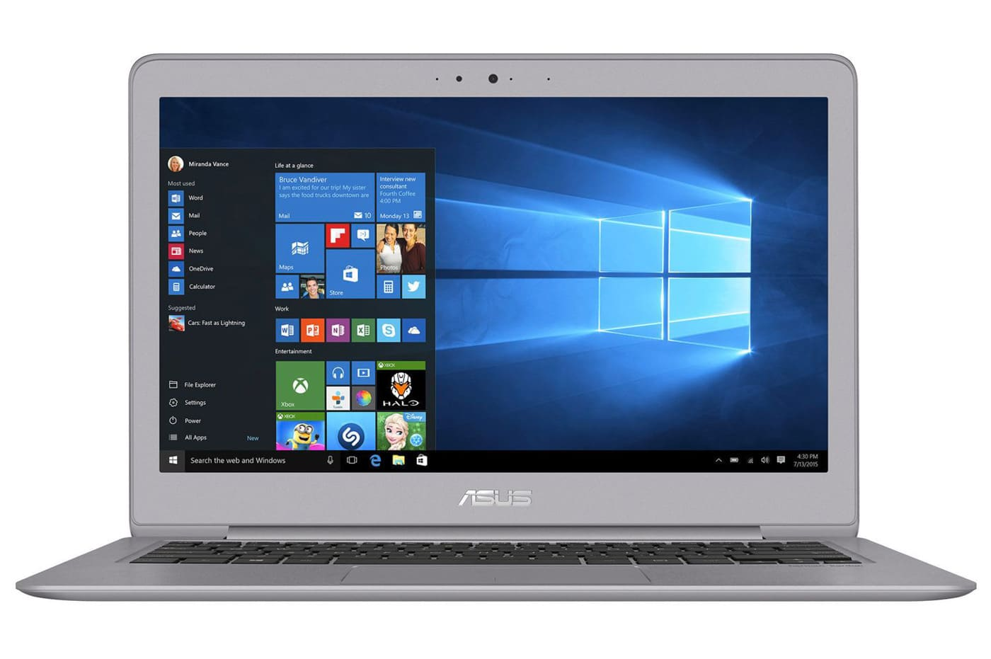 Asus ZenBook UX330CA-FC034T, ultrabook 13 pouces m3 Kaby SSD IPS promo 679€