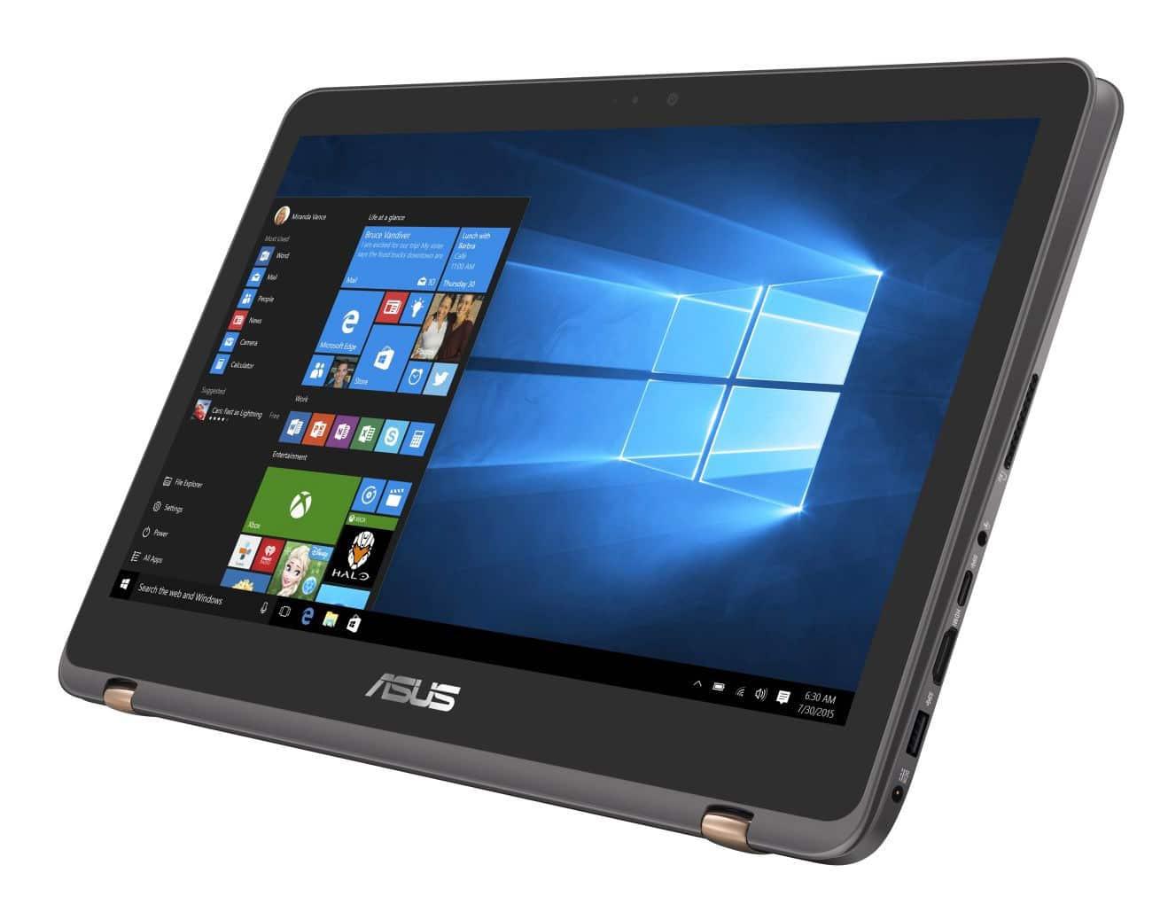 """Asus Zenbook Flip UX360UAK-C4245T, ultrabook 13"""" tablette SSD256 Kaby i5 918€"""