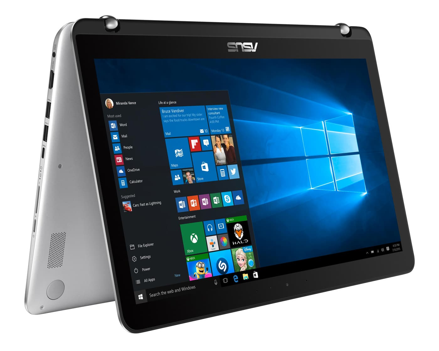 "Asus Zenbook Flip UX560UA-FZ021T, Ultrabook 15"" tactile/Tablette SSD512, 999€"