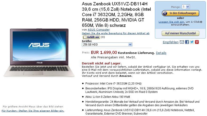 Asus Zenbook : un Ultrabook à écran Retina se dévoile (2880x1620)