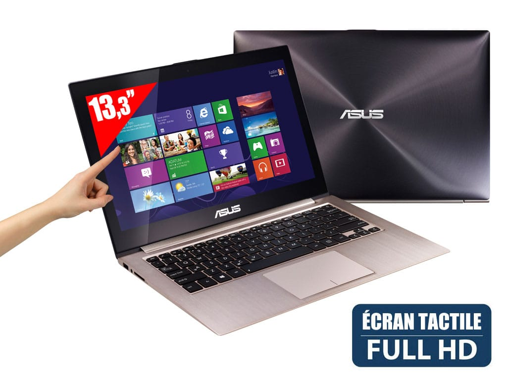 """Asus Zenbook Touch UX31LA-C4009H, 13.3"""" Full HD tactile IPS mat : SSD 256 Go, i7 Haswell, vente flash 1249€"""