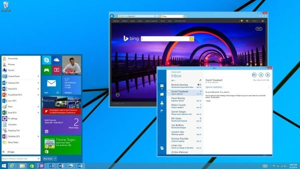 BUILD 2014 Windows 8.1 Update retour Menu Démarrer