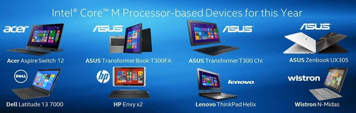 Intel Broadwell Core M série Y : plusieurs Ultrabooks annoncés (Asus, Lenovo, etc.) !