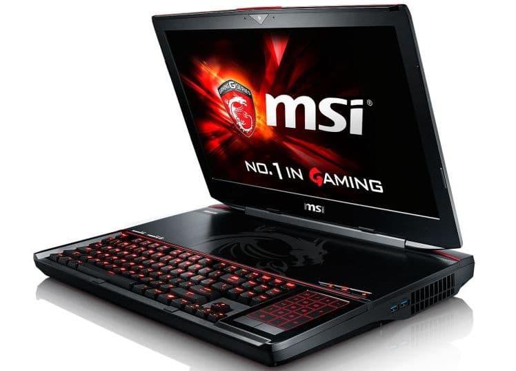 "<span class=""tagtitre"">CES 2015 - </span>MSI GT80 Titan, 18.4"" gamer puissant SLI GTX 980M, SSD M.2"