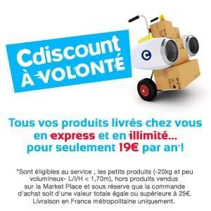 Cdiscount à volonté, nouveau service à 19€ : frais de port gratuits pour toute l'année