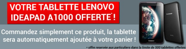 Cdiscount tablette offerte