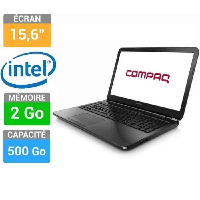 """Compaq 15-s001nf à 249€, 15.6"""" bureautique à petit prix : Celeron Dual Core Bay Trail, 500 Go"""