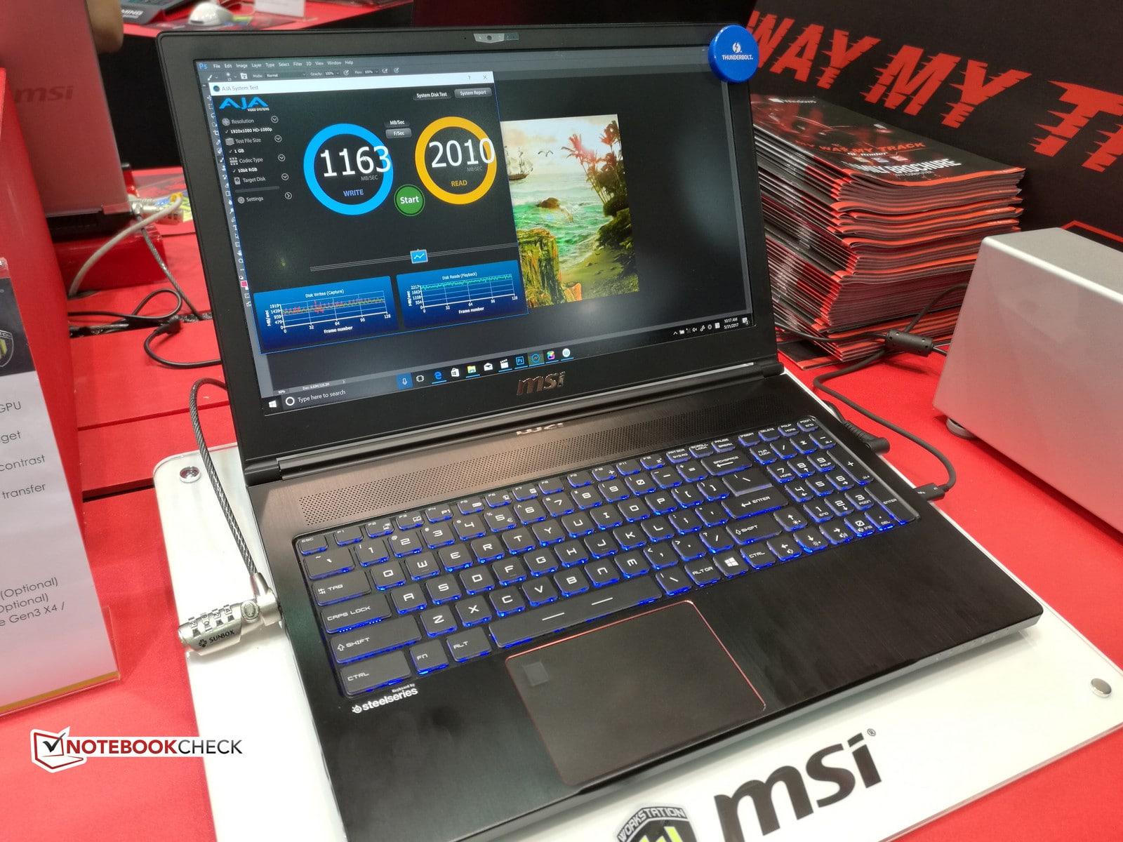 """<span class=""""tagtitre"""">Computex 2017 - </span>MSI met à jour son Ultrabook station de travail WS63 avec Quadro"""