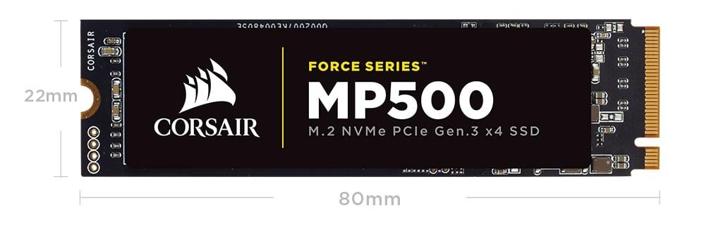 "<span class=""tagtitre"">Bon Plan - </span>SSD M.2 NVMe Corsair Force MP500 de 480 Go pour 247 euros"