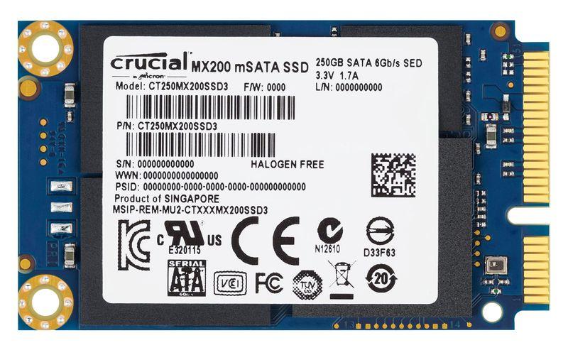 """<span class=""""tagtitre"""">Bon Plan - </span>SSD mSATA Crucial MX200 de 500 Go en vente flash à 179€"""