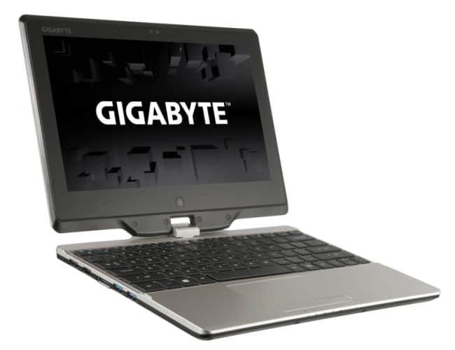 "<span class=""tagtitre"">CES 2014 - </span>Gigabyte U21MD, un ordinateur portable hybride 3-en-1 (Haswell, SSD, tactile)"