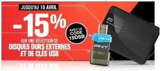 """<span class=""""tagtitre"""">Bon Plan - </span>15% de remise sur des clés USB et disques durs externes chez GrosBill"""