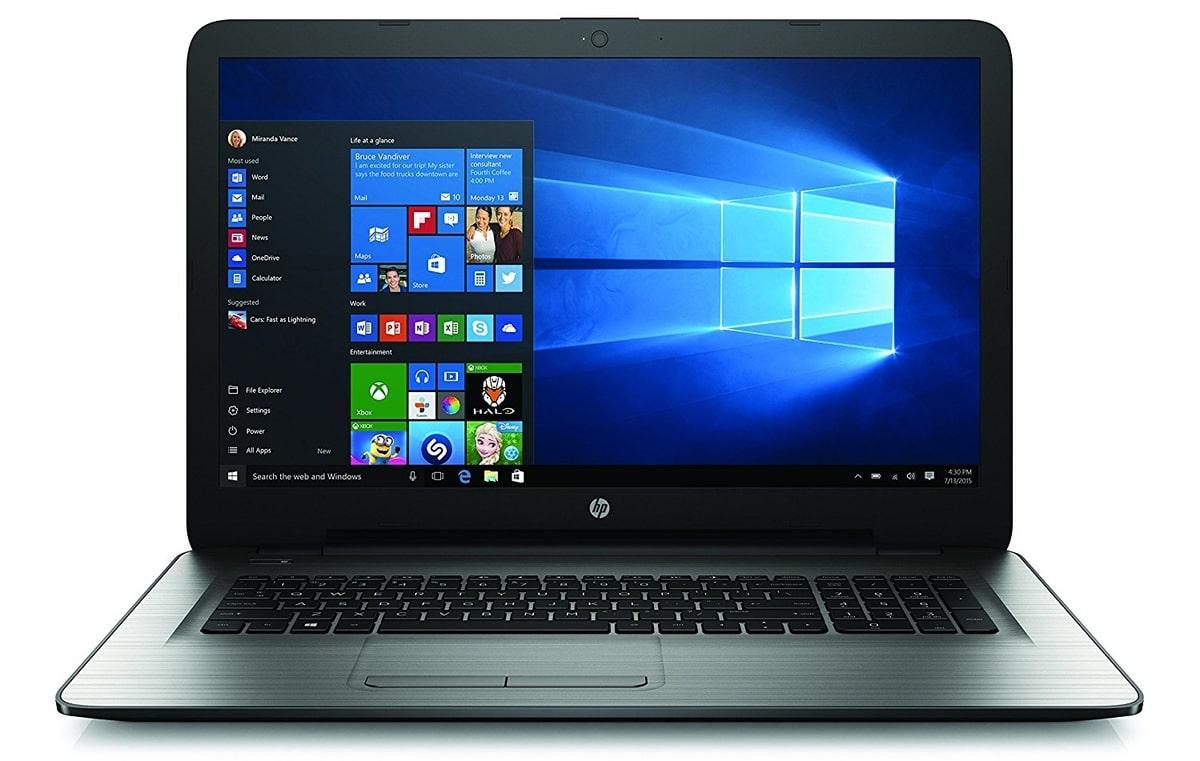 HP 17-x054nf, PC portable 17 pouces Core i5 1To Radeon design argent (449€)