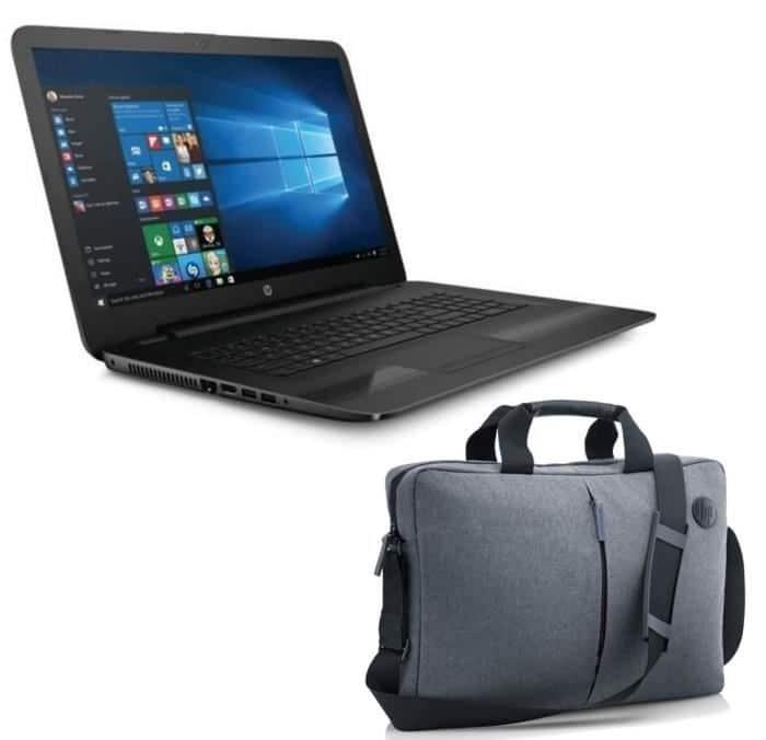 HP 17-x056nf + sacoche à 399€, PC portable 17 pouces noir Core i3