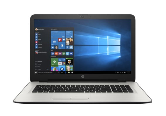 HP 17-x122nf à 749€, PC portable 17 pouces blanc 2 To Kaby Lake 8 Go Radeon