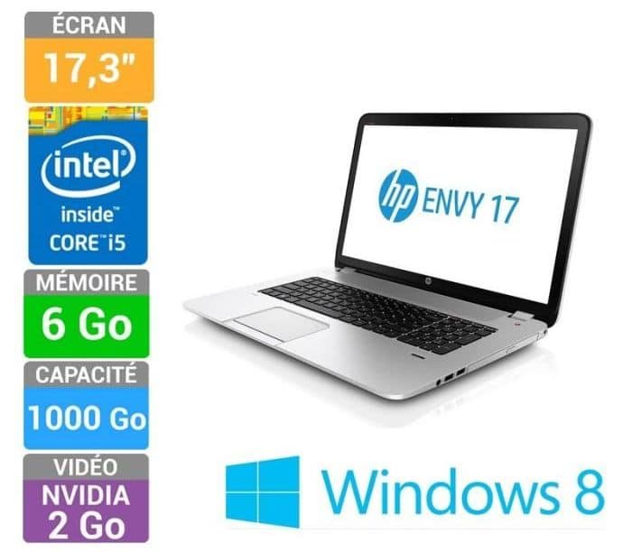 """<span class=""""tagtitre"""">Promo 649€ (-70€ ODR) - </span>HP Envy 17-j101sf vente flash 749€, 17.3"""" polyvalent : Core i5 Haswell, 6 Go, 1 To"""