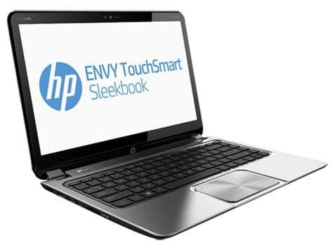 """HP Envy TouchSmart 4-1282sf, 14"""" tactile avec Core i5 Ivy Bridge, SSD/500 Go, 7h à 799€"""