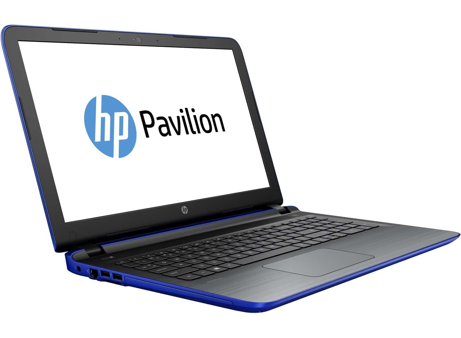 HP Pavilion 15-ab020nf à 579€ (-100€), PC portable 15 pouces bleu