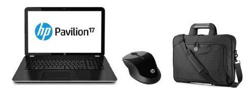 """HP Pavilion 17-e137nf, 17.3"""" avec Core i3 Ivy Bridge et 1000 Go + souris + sacoche, vente flash 469€"""