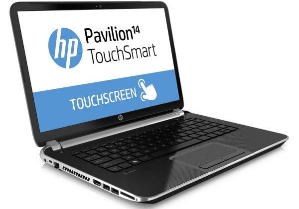 "<span class=""toptagtitre""><del datetime=""2014-07-09T16:20:42+00:00"">Soldes 649€ (-100€ ODR) ! </span></del>HP Pavilion TouchSmart 14-n204sf, 14"" tactile : Core i7 Haswell, HD8670M à 899€"