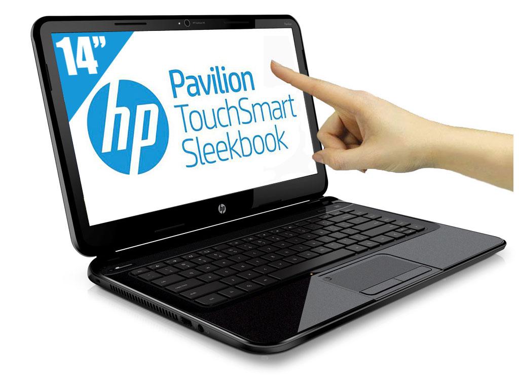"""HP Pavilion TouchSmart Sleekbook 14-b158ef à 699€, 14"""" tactile : Core i3 Ivy Bridge, 8 Go, 1000 Go, 1.8 Kg"""