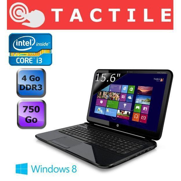 """<span class=""""tagtitre""""><del datetime=""""2013-07-18T07:09:41+00:00"""">Soldes 469€ (-50€) - </span>HP Pavilion TouchSmart Sleekbook 15-b155sf, 15.6"""" tactile avec Core i3 Ivy Bridge, 500 Go</del>"""