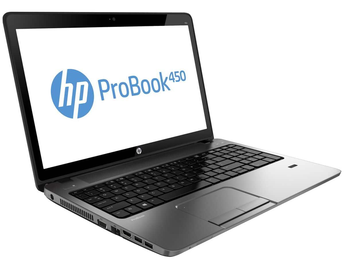 """HP ProBook 450, 15.6"""" mat Pro polyvalent avec Core i3 Ivy Bridge, HD8750M, 750 Go à 599€"""