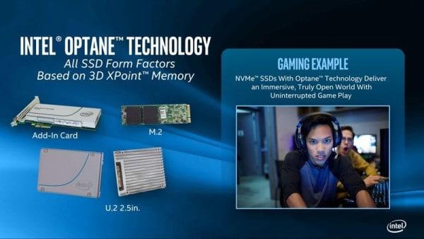 IDF 2015 Intel Optane mémoire 3D XPoint SSD 1