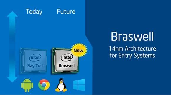 Intel Braswell en 14nm: nouveaux processeurs successeurs des Bay Trail pour début 2015