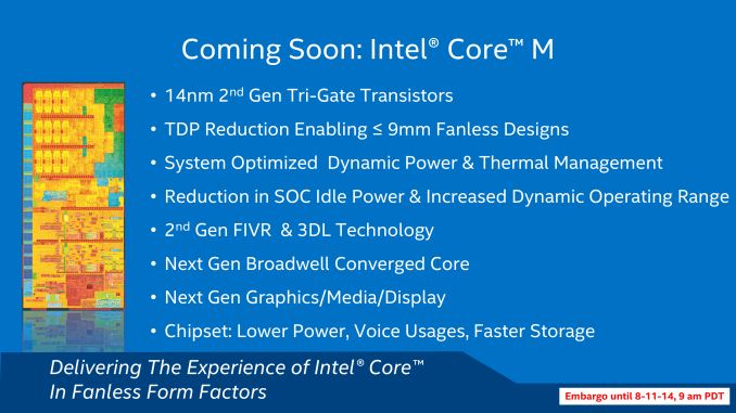 Intel présente ses processeurs Broadwell en 14nm, série Y mobile fin 2014