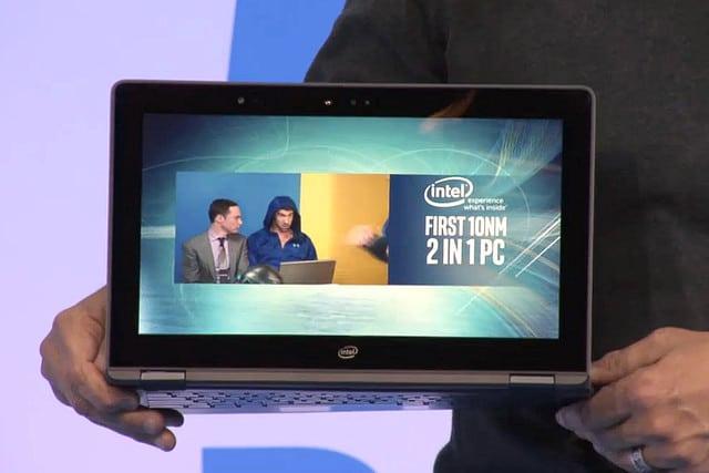 """<span class=""""tagtitre"""">CES 2017 - </span>Intel dévoile un PC portable 2-en-1 Cannon Lake"""