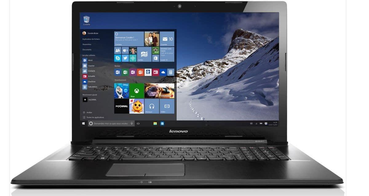 Lenovo G70-80 à 499€, PC portable 17 pouces IPS bureautique