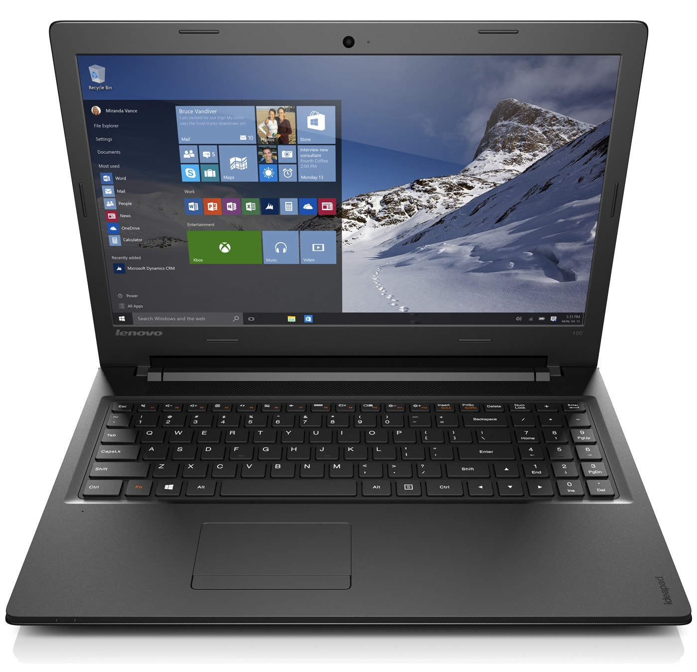 Lenovo IdeaPad 100-15IBD, PC portable 15 pouces avec sacoche+i5 (399€)