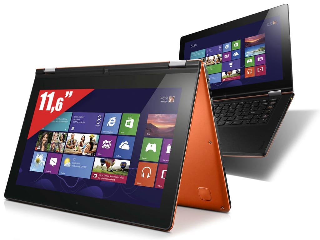 "Lenovo IdeaPad Yoga 11S, 11.6"" IPS tactile/Tablette avec Core i3 Haswell, SSD 128 Go, 1.4 Kg, Win 8.1 à 799€"