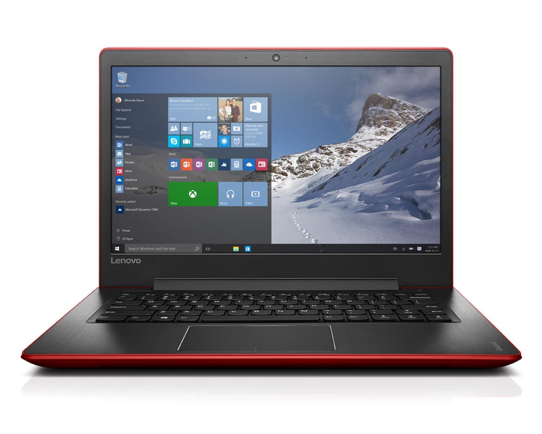 Lenovo Ideapad 510s-14ISK à 499€, Ultrabook 14 pouces noir/rouge SSD Skylake