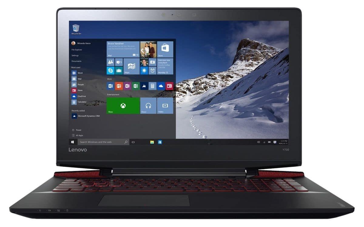 Lenovo Y700-15ISK, PC portable 15 pouces IPS SSD 960M Quad à 865€