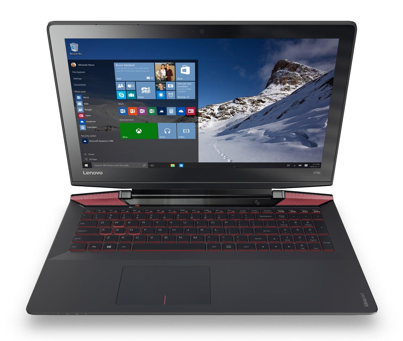 Lenovo Ideapad Y700, 17 pouces IPS 960M SSD256 Quad (699€)