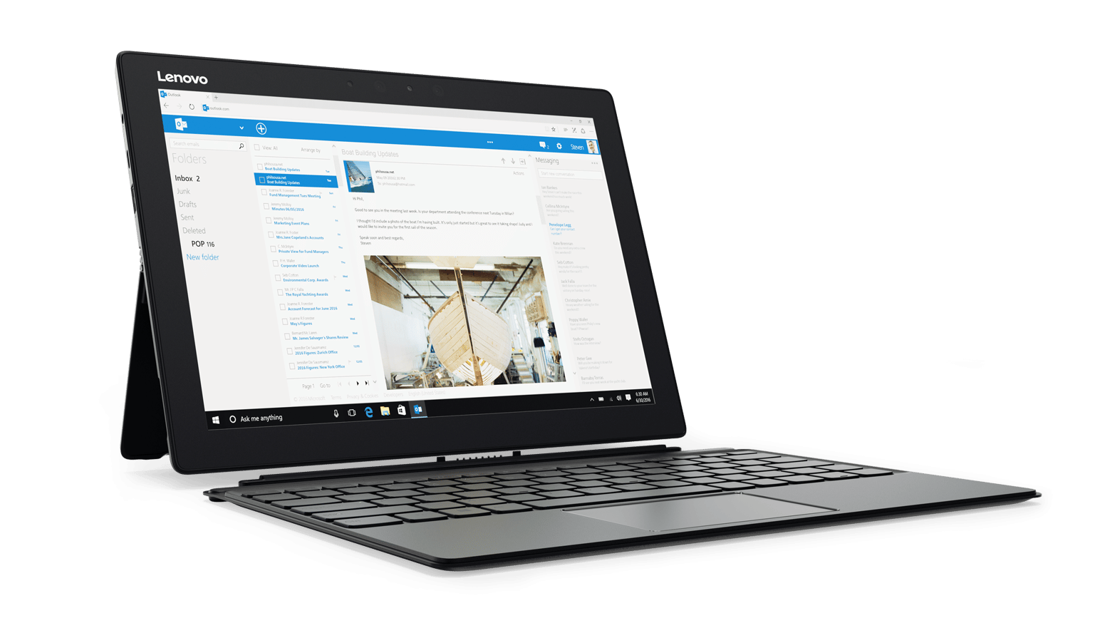"<span class=""tagtitre"">CES 2017 - </span>Lenovo Miix 720, nouvel Ultrabook hybride tactile/Tablette Kaby Lake"