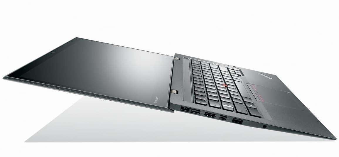 "<span class=""tagtitre"">CES 2014 - </span>Lenovo ThinkPad X1 Carbon (Touch) Haswell : écran IPS 2560x1440, 9H d'autonomie, 4G, NFC"