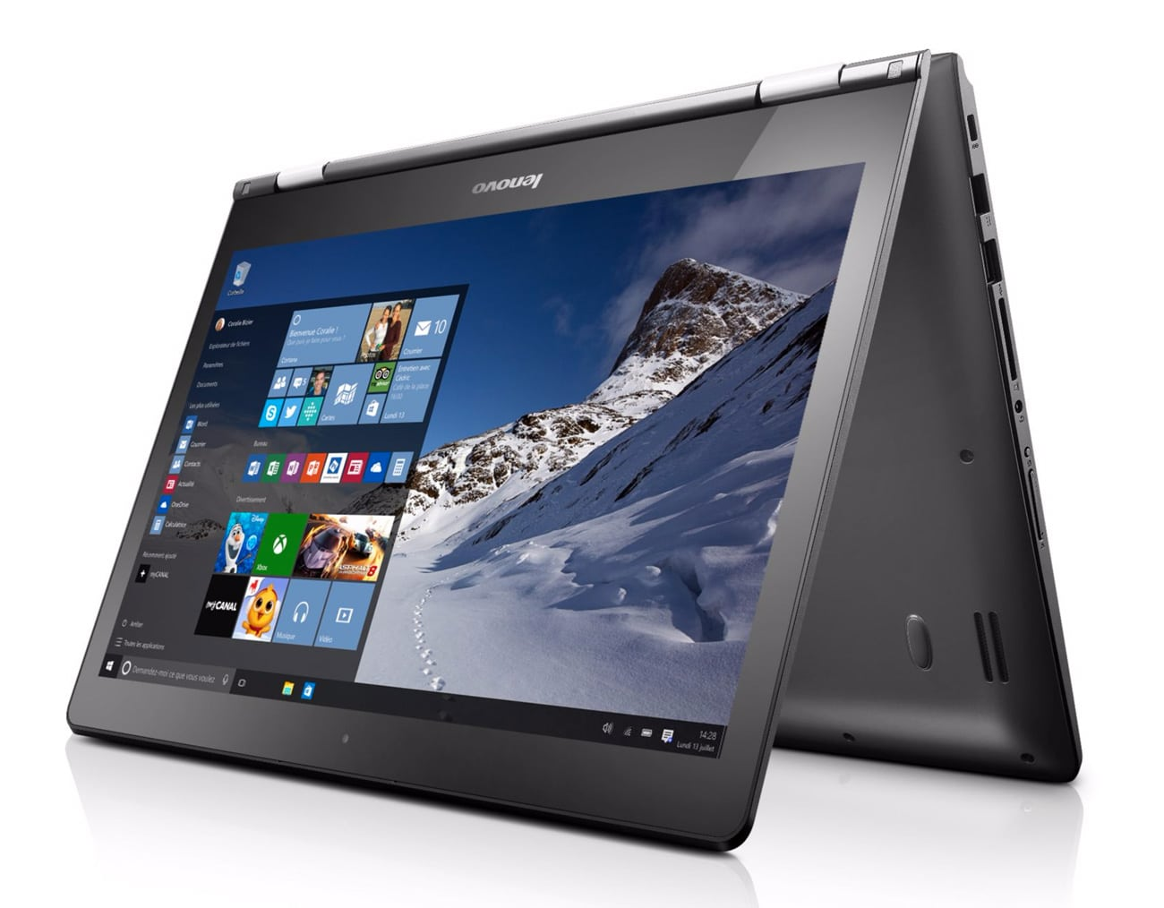 Lenovo Yoga 500-14IBD promo 349€, PC portable 14 pouces Tablette SSHD Core i3