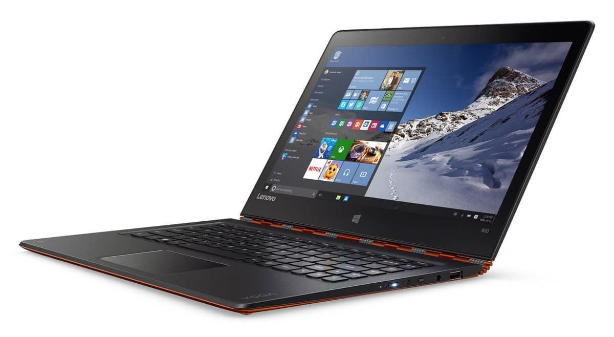 Lenovo Yoga 900, Ultrabook hybride tactile/Tablette Skylake QHD+ IPS