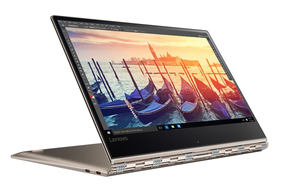 "Lenovo Yoga 910-13IKB, ultrabook 13"" tablette Or SSD 512 Go Full IPS Kaby à 1410€"