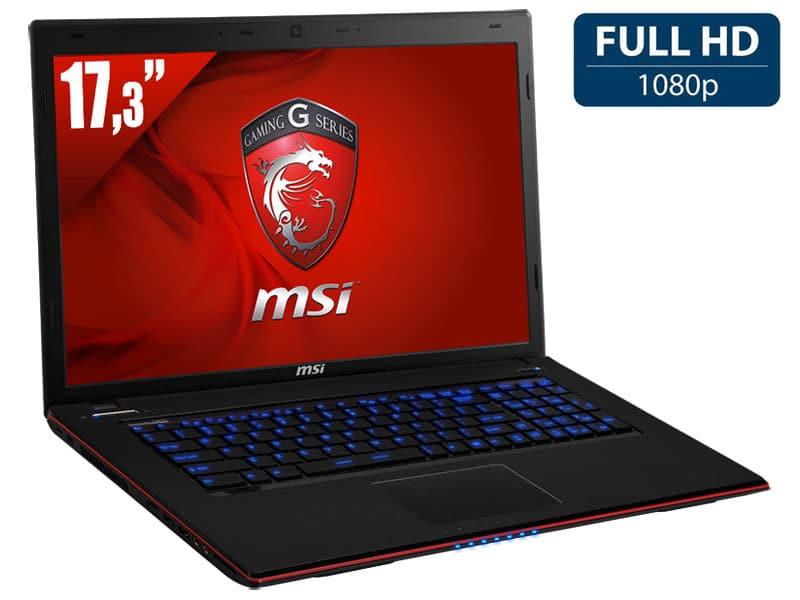 """MSI GE70 2OE-076, 17.3"""" Full HD mat gamer à 1049€ : GTX 765M, Core i5 Haswell, 750 Go 7200tr"""