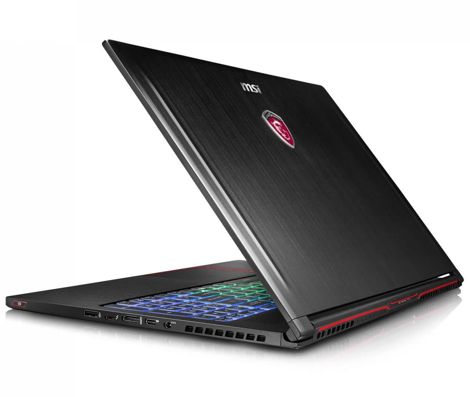 MSI GS63VR 6RF-019, ultrabook 15 pouces 16Go GTX 1060 SSD256 i7 à 1799€