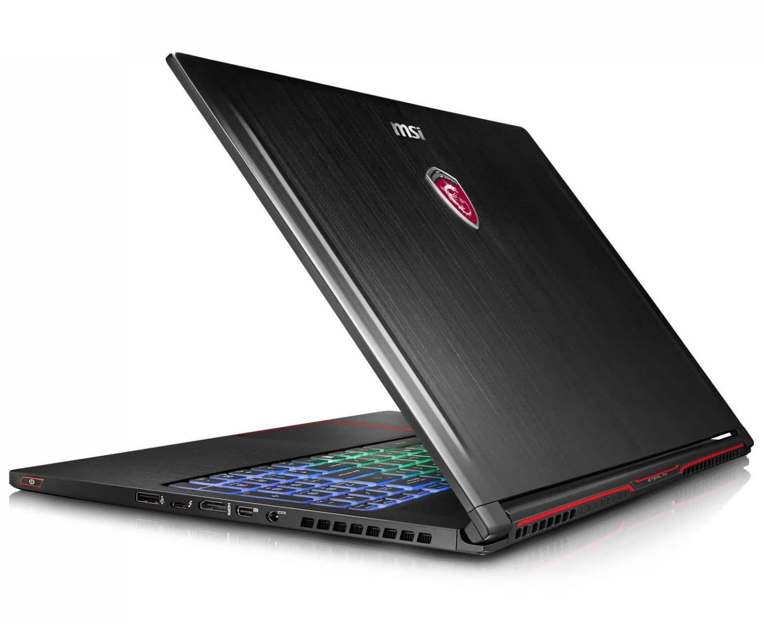 MSI GS63VR 6RF-089, ultrabook 15 pouces 4K GTX 1060 SSD 512+2To à 2199€