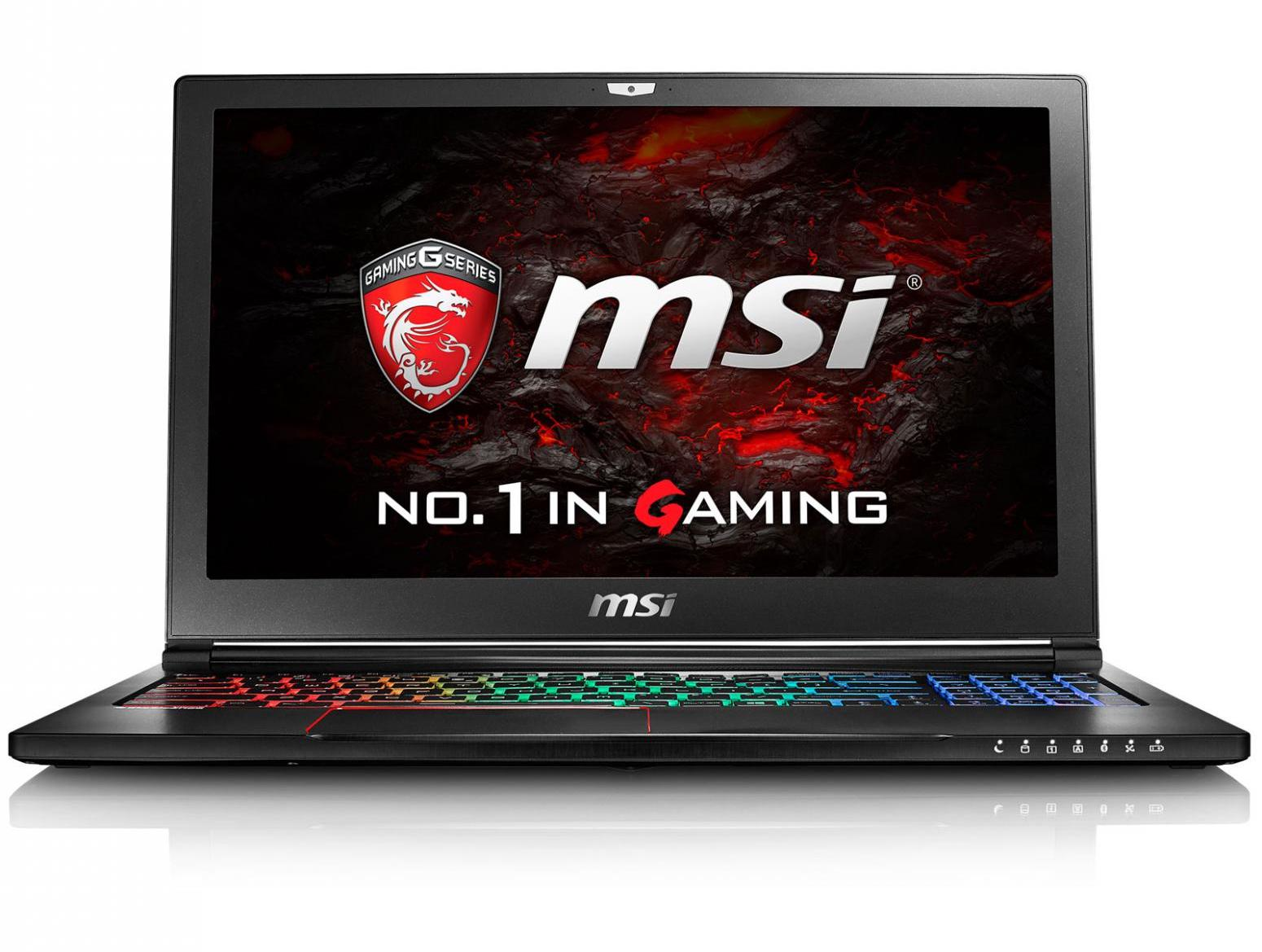 MSI GS63VR 6RF-090X, ultrabook 15 pouces fin 16Go GTX 1060 SSD i7 pack 1449€